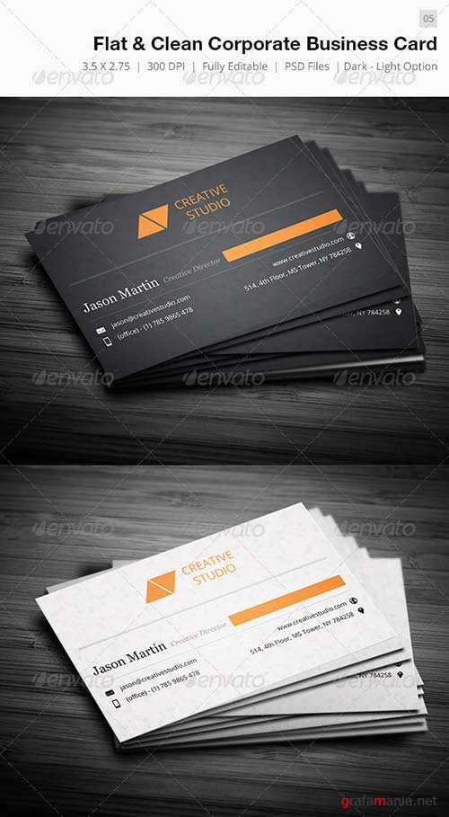 GraphicRiver Dual Clean Corporate Business Card - 05