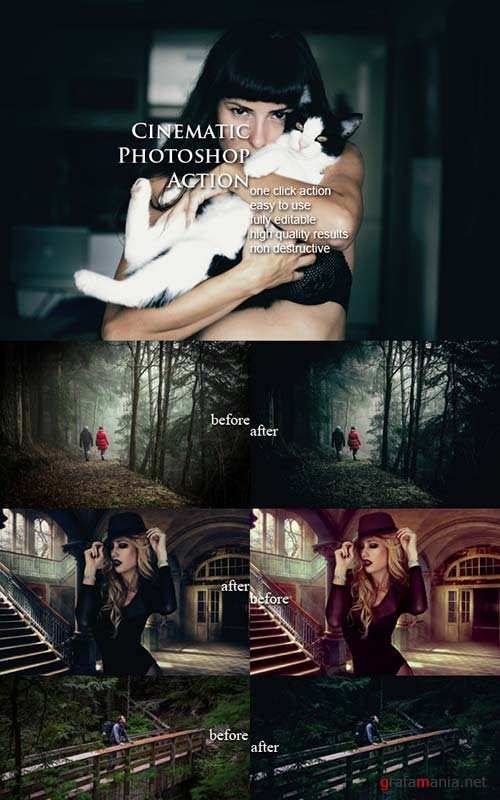 GraphicRiver Cinematic Photoshop Action