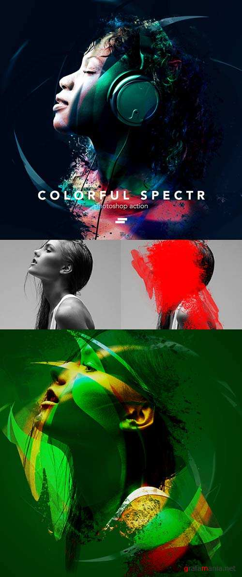 GraphicRiver Colorful Spectr Photoshop Action