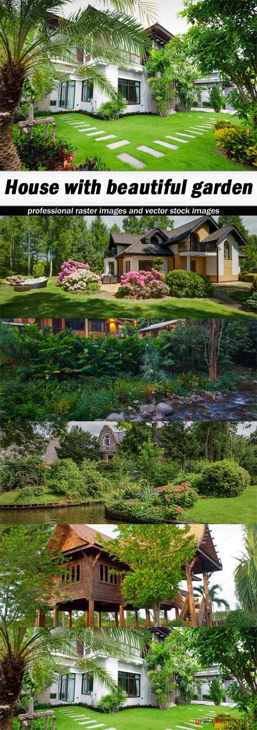 House with beautiful garden - 5 UHQ JPEG