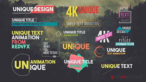 31 Unique Titles Pack - Project for After Effects (Videohive)
