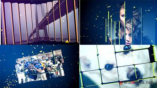 3D Split Slideshow - Project for After Effects (Videohive)