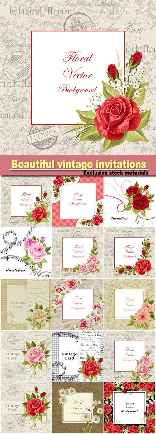 Vector illustration of a beautiful vintage frame with flowers for invitations and birthday cards