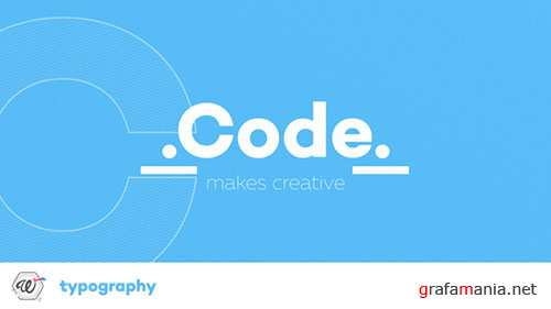 Code Typography - Project for After Effects (Videohive)