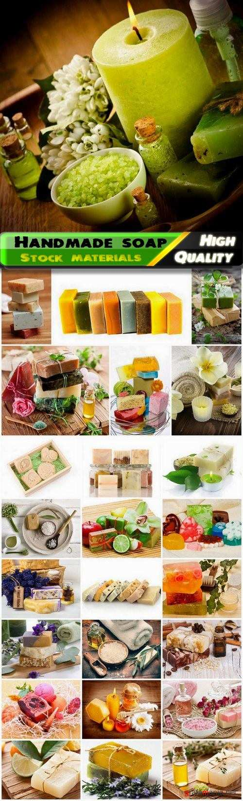 Spa products and creative colored handmade soap - 25 HQ Jpg