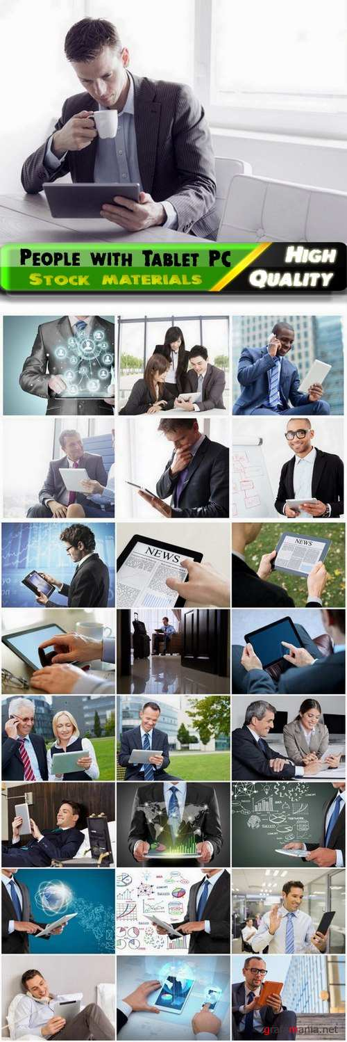 Business people with Tablet PC creative concept - 25 HQ Jpg