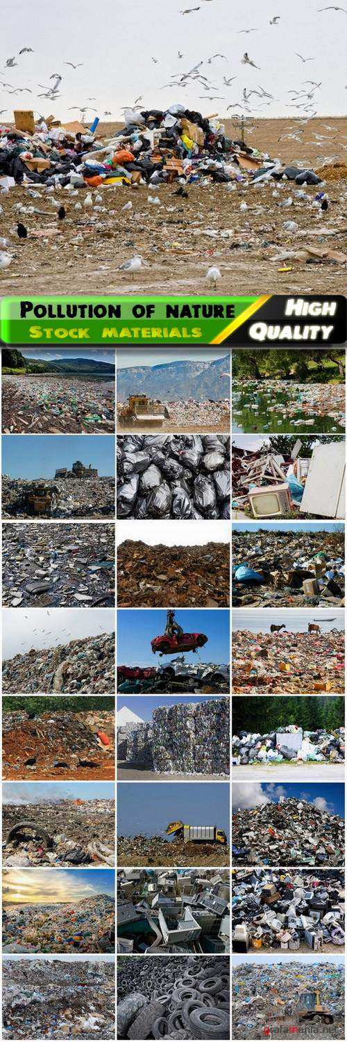 Pollution of nature and the garbage and dump - 25 HQ Jpg