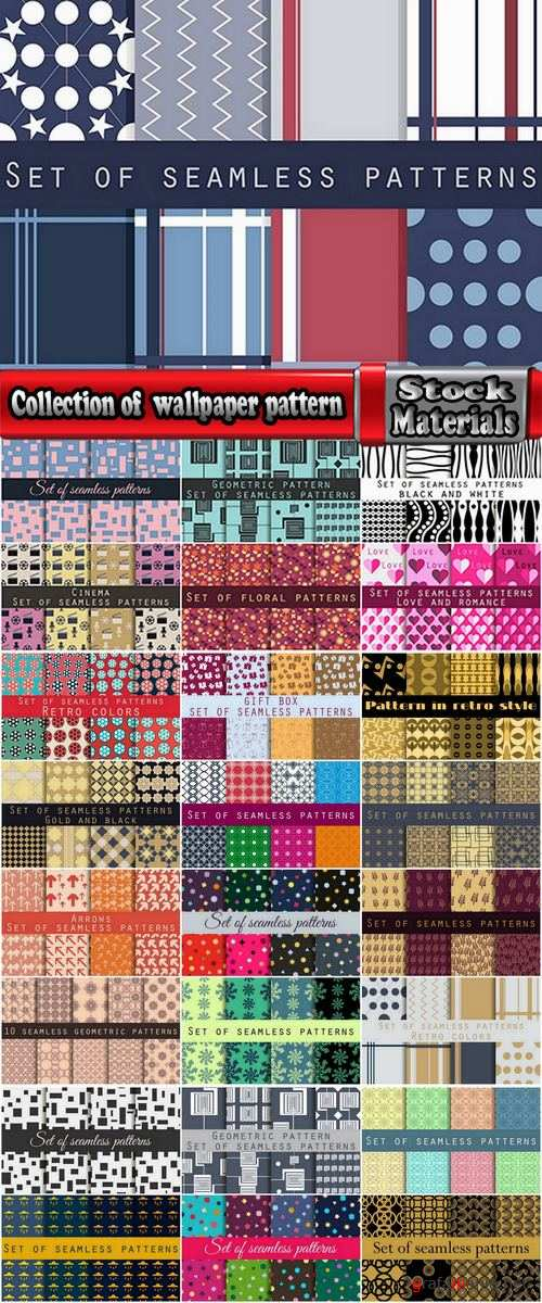 Collection of  wallpaper pattern background is 25 EPS