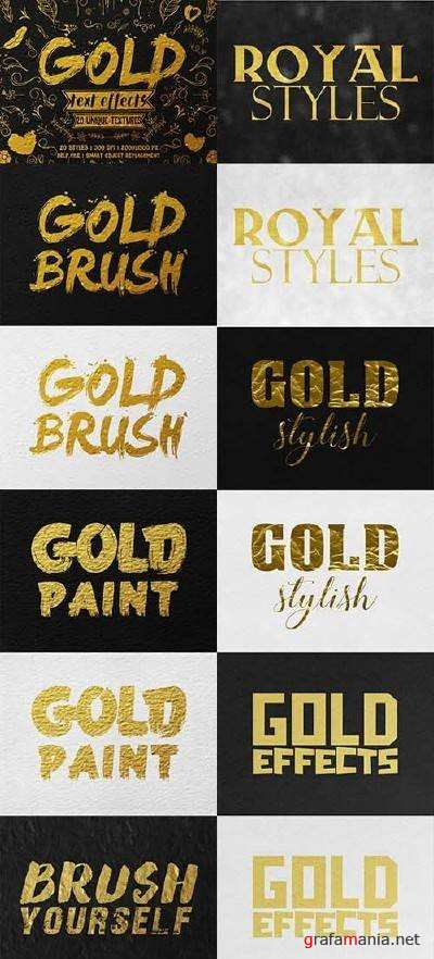 Gold Text Effects - 17297785