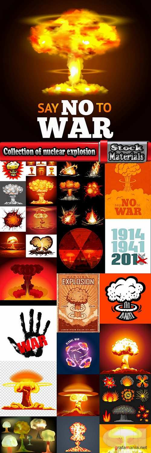 Collection of nuclear explosion radiation flash 25 EPS