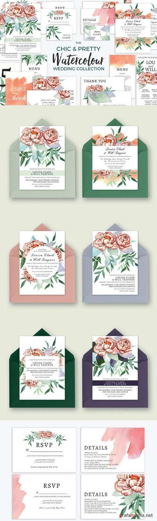 Chic Watercolour Wedding Collection - 827267