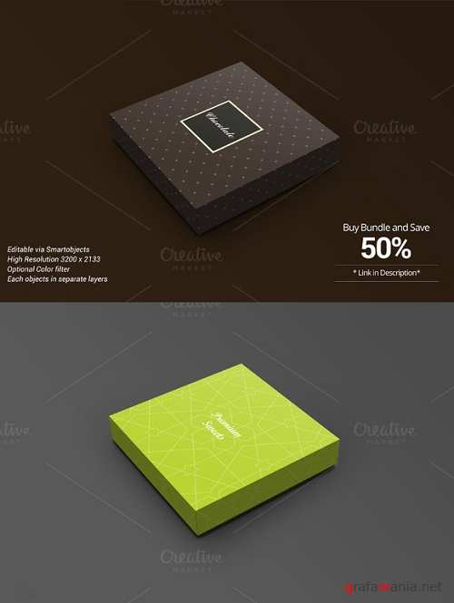Package Box Mockup Chocolate version - 714351
