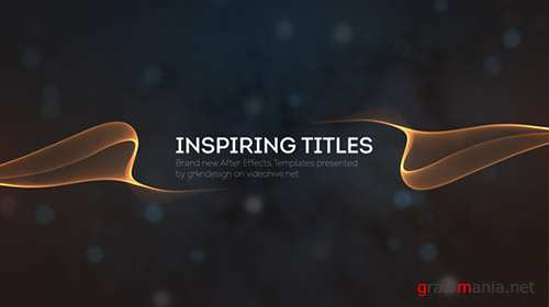 Inspiring Titles 12239072 - Project for After Effects (Videohive)