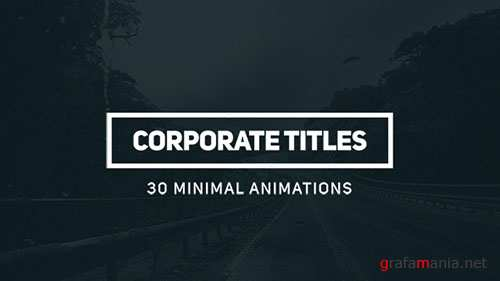 Corporate Titles 16778050 - Project for After Effects (Videohive)