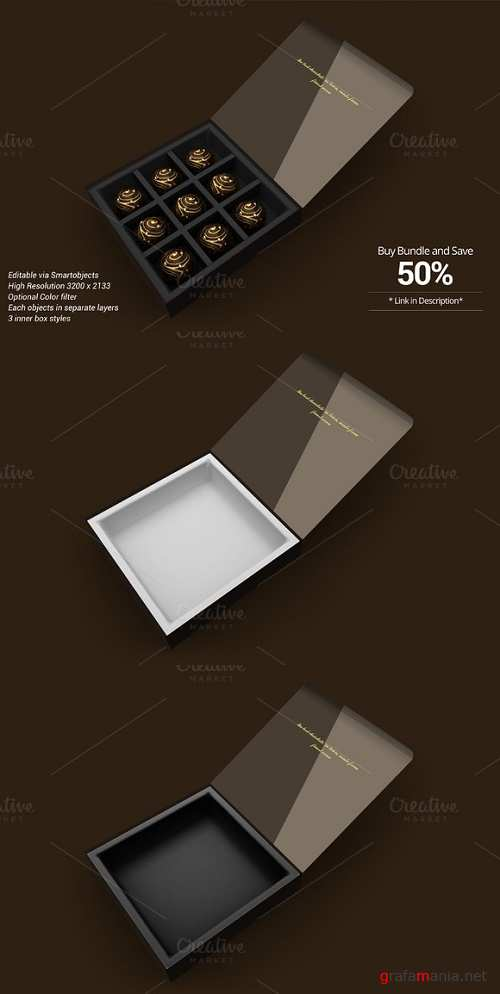 Package Box Mockup Chocolate version - 714362