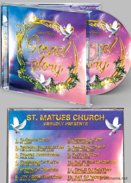 Gospel Glory V1 CD Cover PSD Template