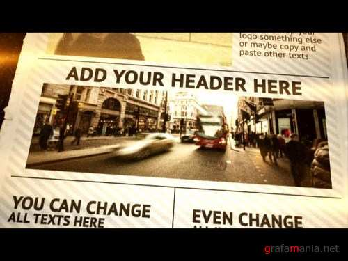 After Effects Newspaper Opener - Motion Array