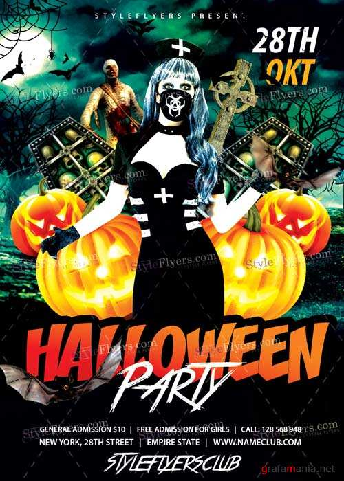 Halloween Party V10 PSD Flyer Template