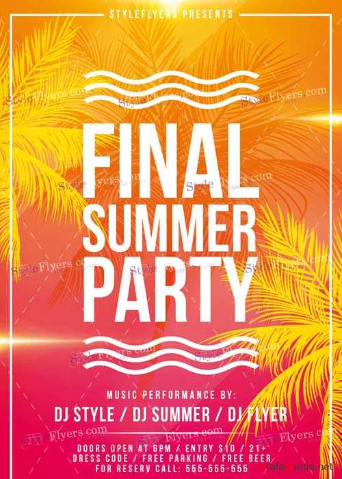 Final Summer V1 PSD Flyer Template