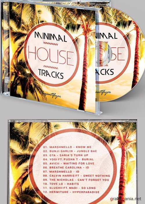 House Music CD Cover PSD Template
