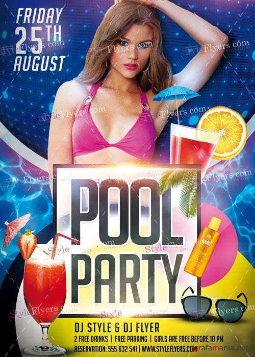 Pool Party V7 PSD Flyer Template
