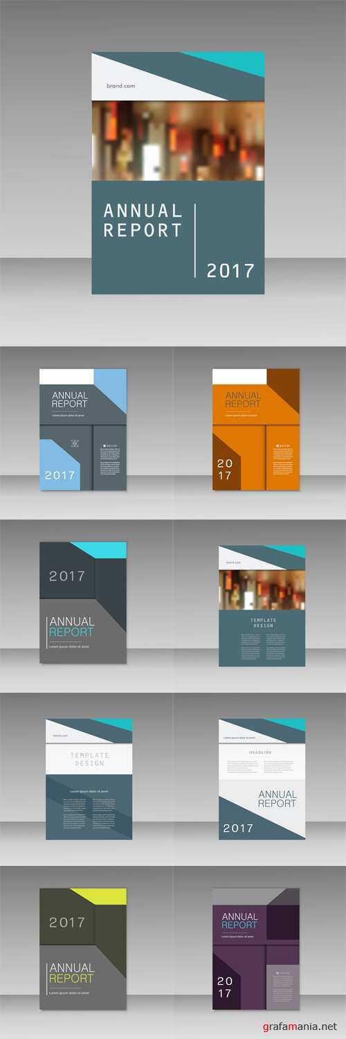 Vector Annual report business brochure templat. Cover book presentation in abstract design