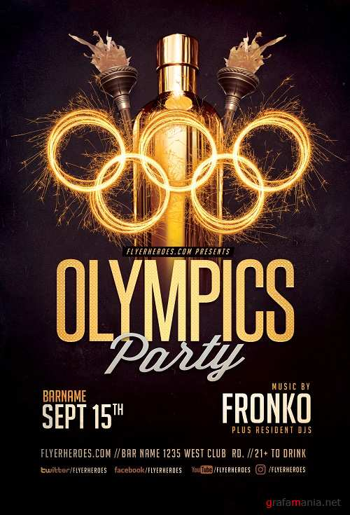 Olympic Party Flyer Template V2