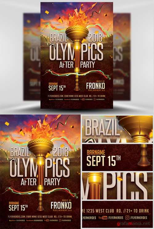 Flyer Template - Olympic After Party