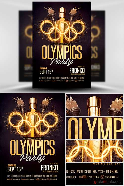 Flyer Template - Olympic Party V2
