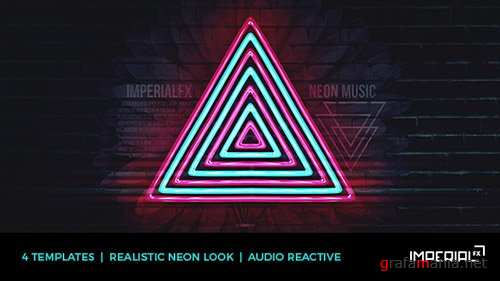 Neon Music Visualizer Audio React - After Effects Project (Videohive)