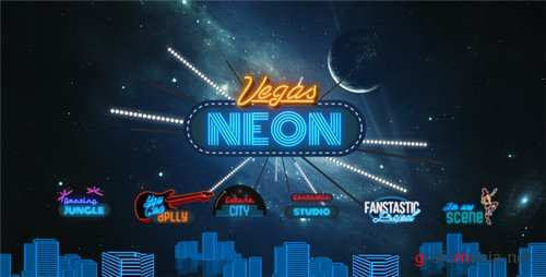 Vegas Neon - After Effects Project (Videohive)