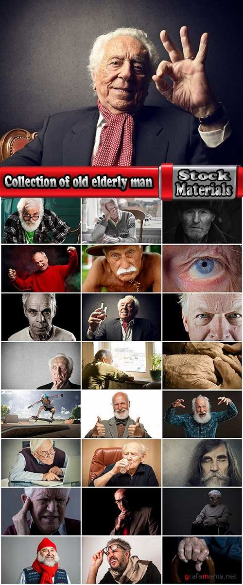 Collection of old elderly man grandfather 25 HQ Jpeg