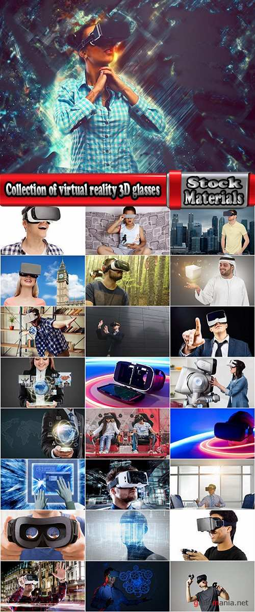 Collection of virtual reality 3D glasses IT entertainment technology 25 HQ Jpeg
