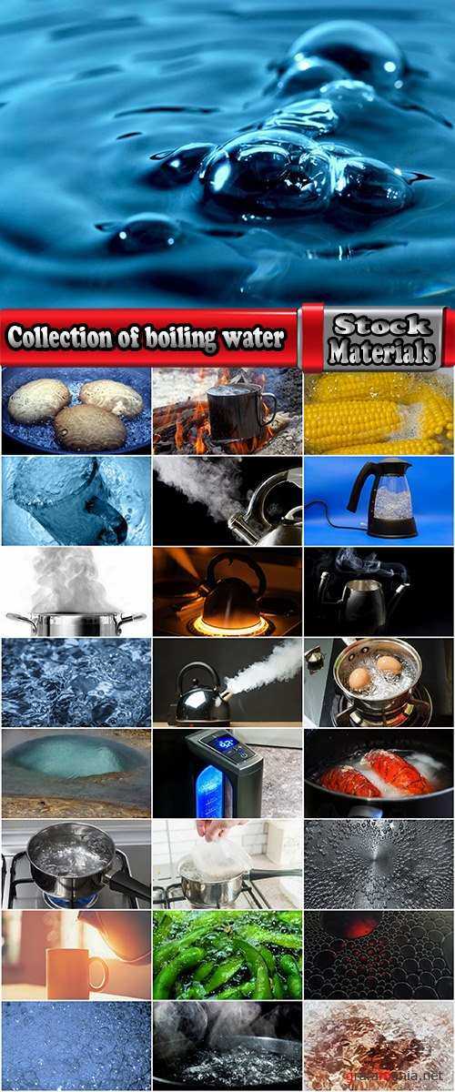 Collection of boiling water steam cooking boiled food products 25 HQ Jpeg
