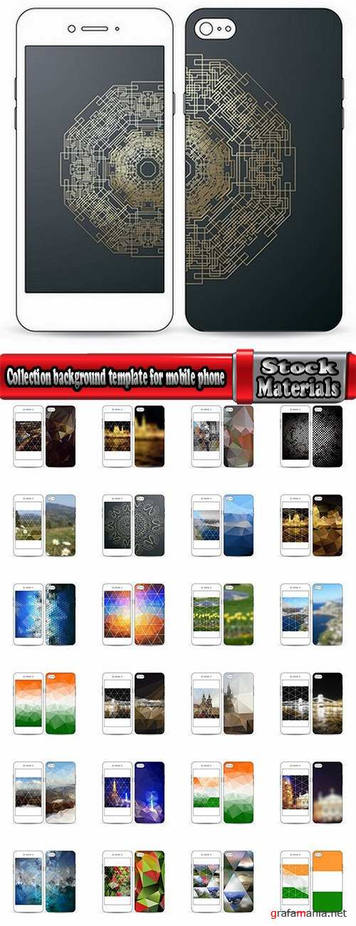 Collection background template for mobile phone cover pattern 25 EPS