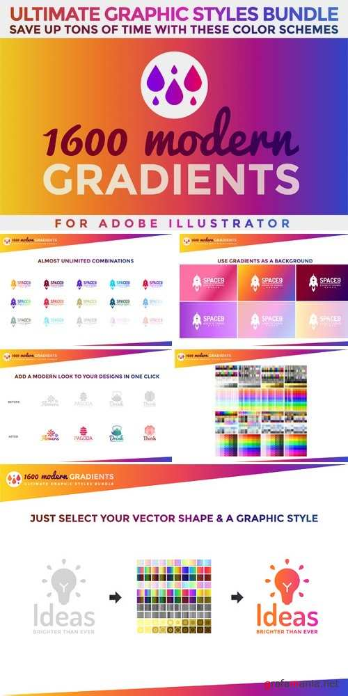 1600 Gradients Graphic Styles Bundle  - 840006