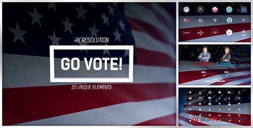 Go Vote 4k Project - Project for After Effects (Videohive)