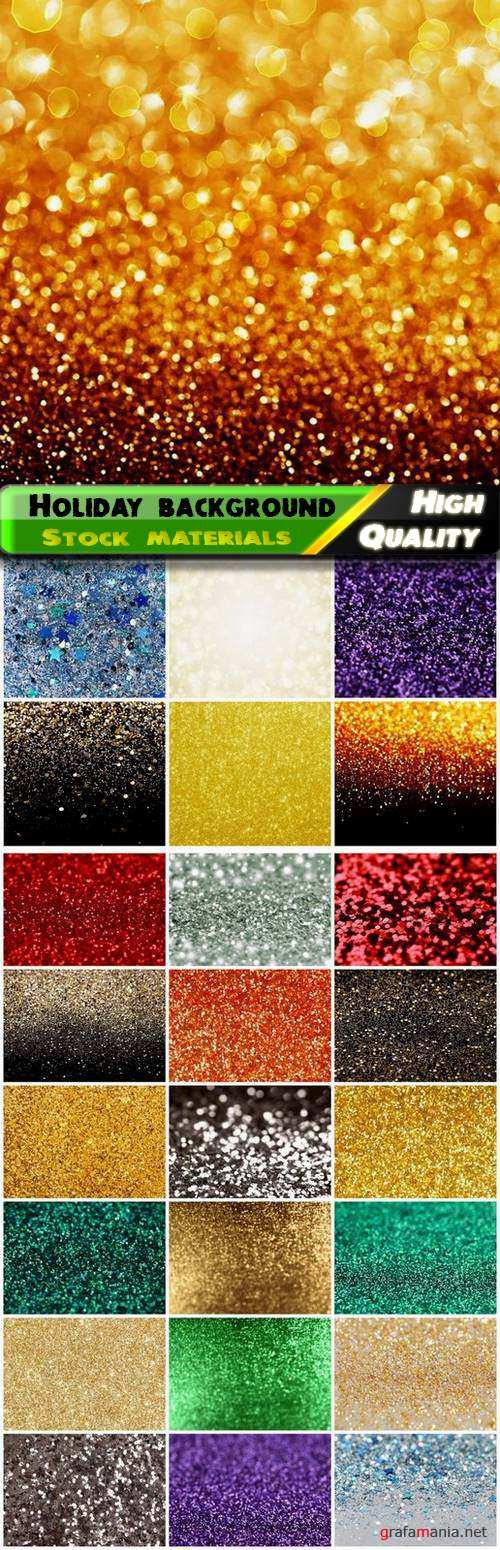 Sparkle glitter holiday background with confetti and tinsel - 25 HQ Jpg