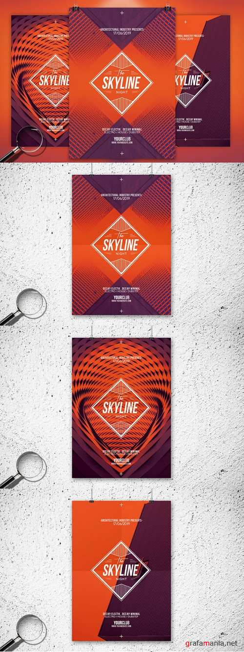 The Skyline | 3in1 Flyer Template - 758899