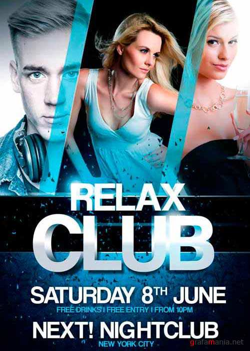 Relax Club V1 Flyer Template
