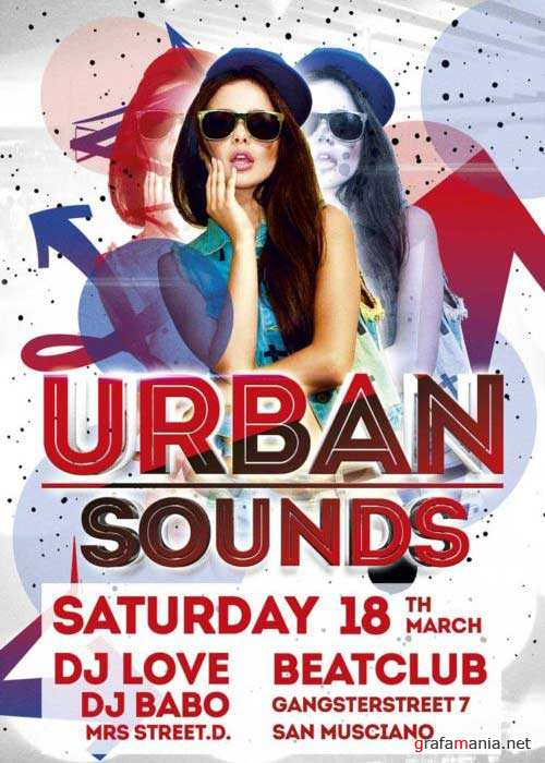 Urban Sounds Party V3  Flyer Template
