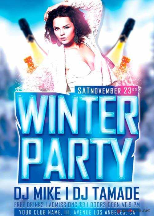 Winter Party V5 Flyer Template