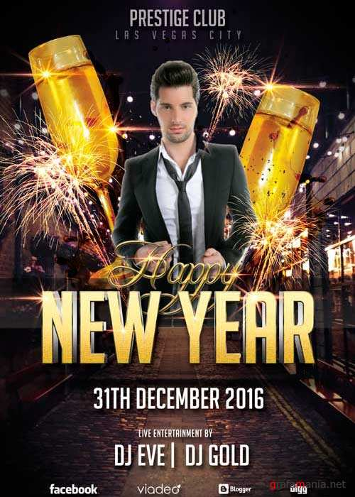 Happy New Year Club V8 Flyer Template