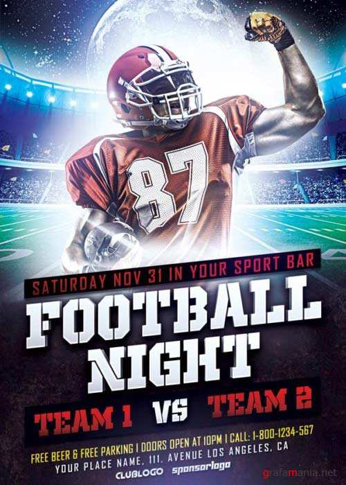 Football Sports V8 Flyer Template