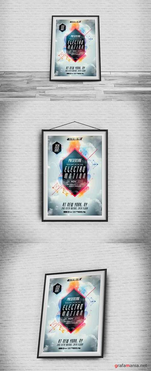 Posters And Flyers Frames - Mockups - 518535