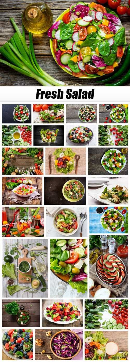 Fresh Salad - 27xUHQ JPEG
