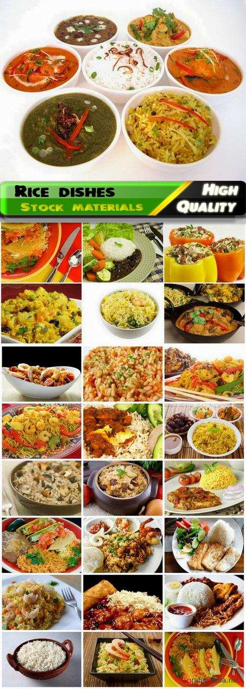 Rice dishes with meat and vegetables and pilaf and risotto - 25 HQ Jpg