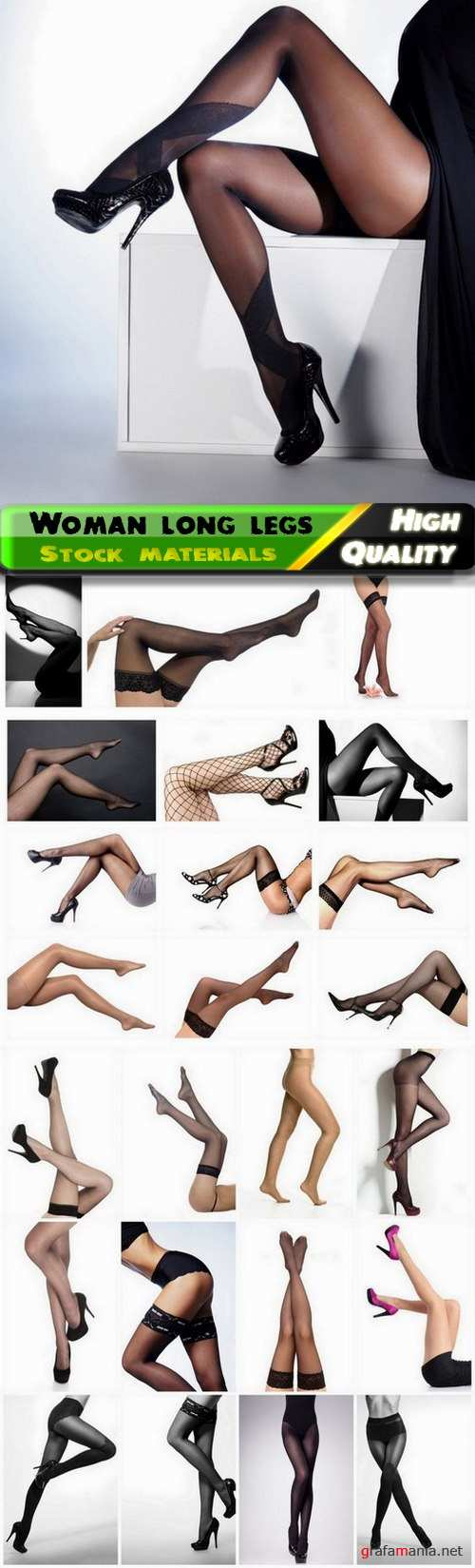 Woman and girl long legs stockings and tights high heels - 25 HQ Jpg
