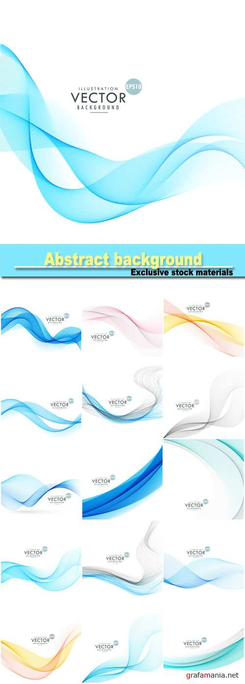Smoke wave abstract background, abstract lines wave background
