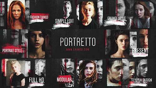 Portretto // Grunge Slideshow - Project for After Effects (Videohive)